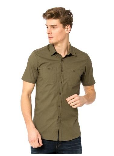 Kısa Kollu Slim Fit Gömlek-LC Waikiki